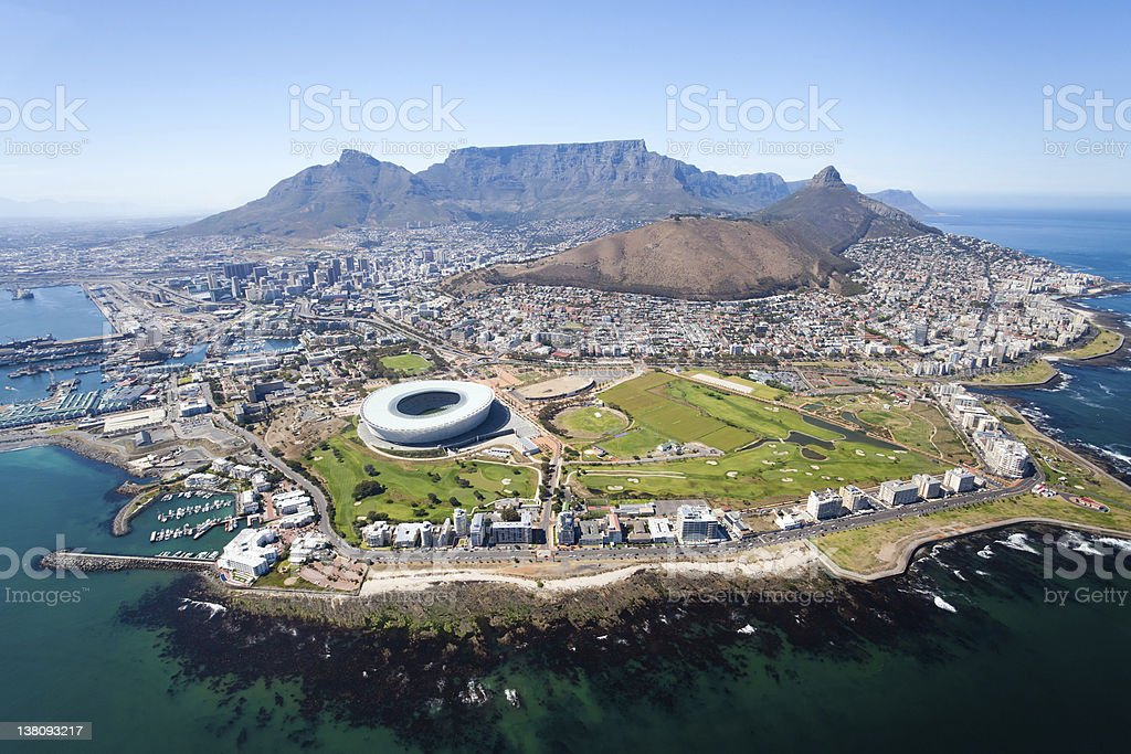 overall aerial view of Cape Town royalty-free stock photo