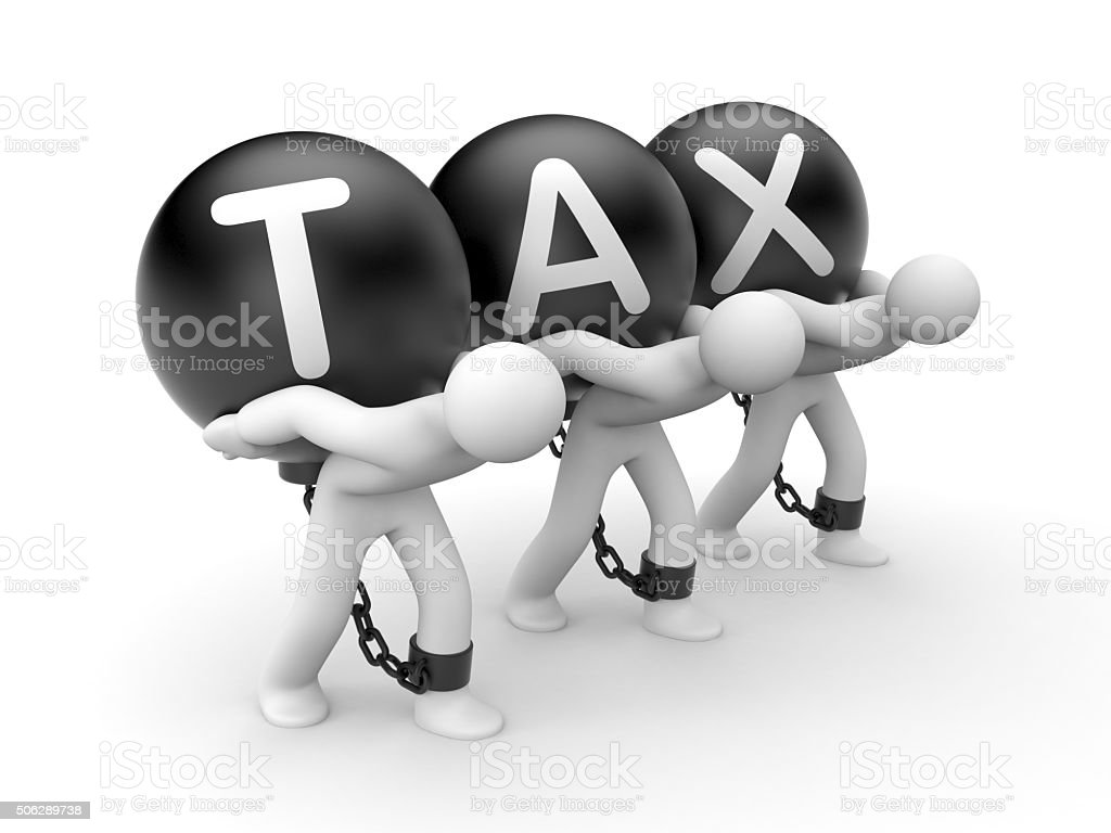 Overall tax burden stock photo