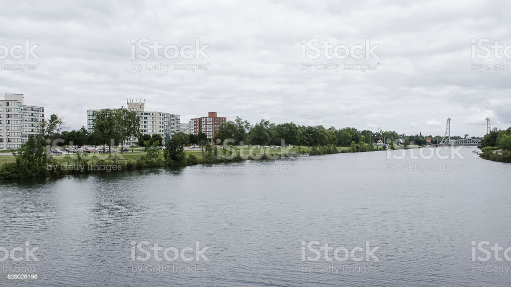 Overcast Canal stock photo