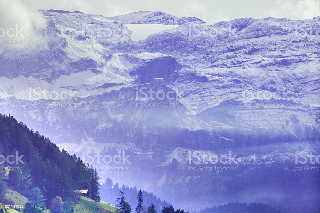 Overcast Clouds, Obersimmental, Swiss Alps stock photo