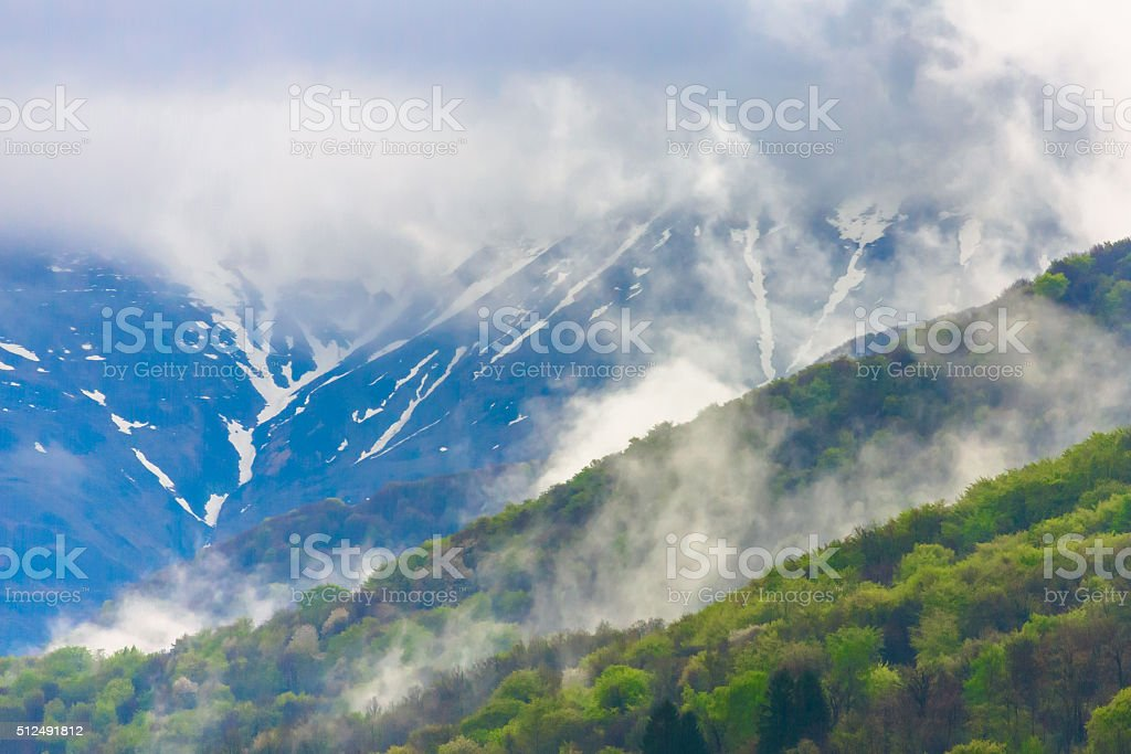 Overcast over Alps stock photo