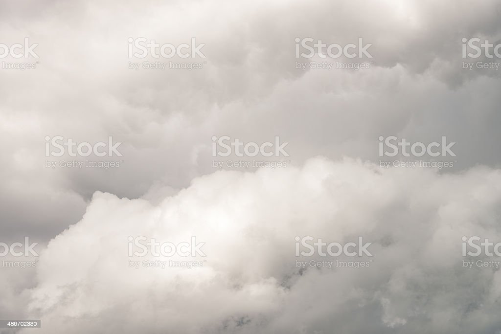 Overcast sky detail - cloud texture background stock photo