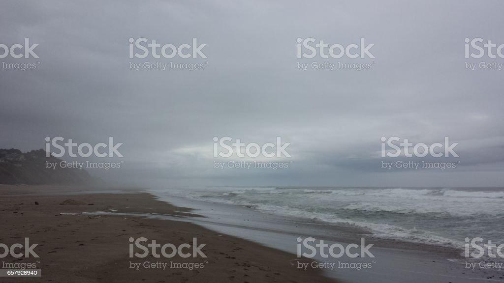 Overcast view of Shoreline stock photo