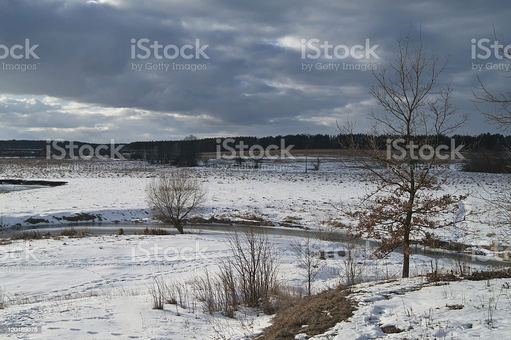 Overcast winter day royalty-free stock photo