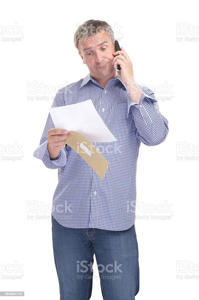 overcharged customer stock photo