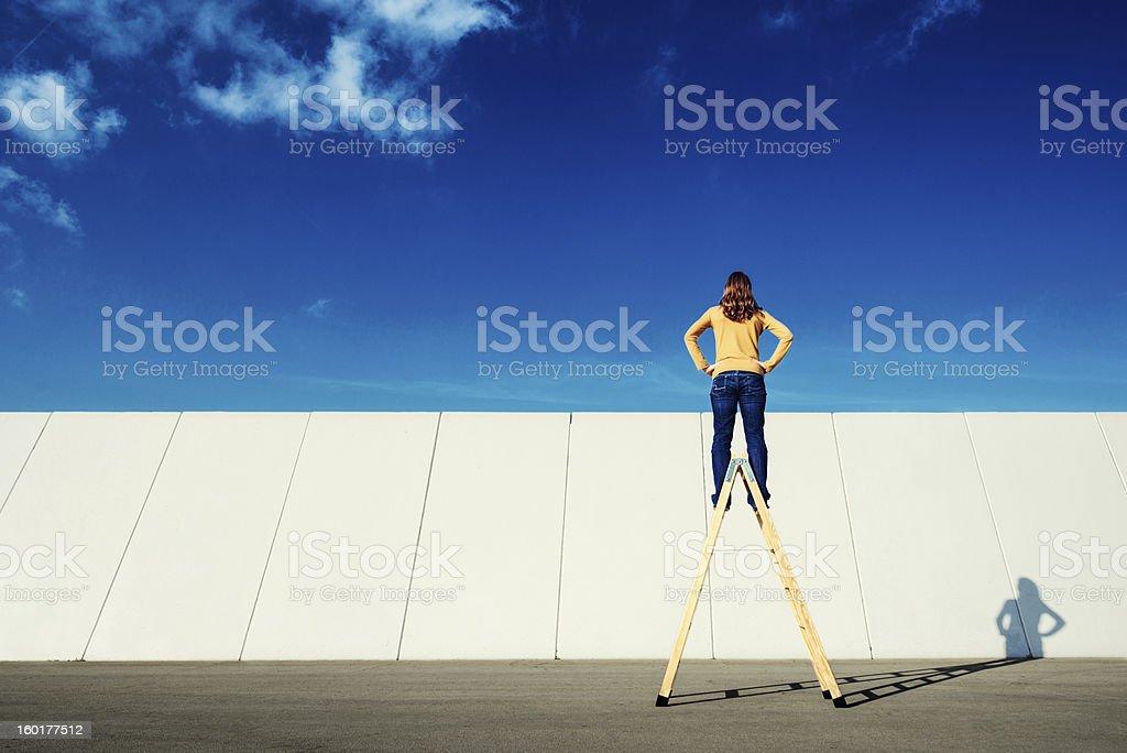 Overcome adversity stock photo