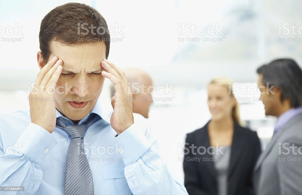 Overcome by the stress and strain of work royalty-free stock photo