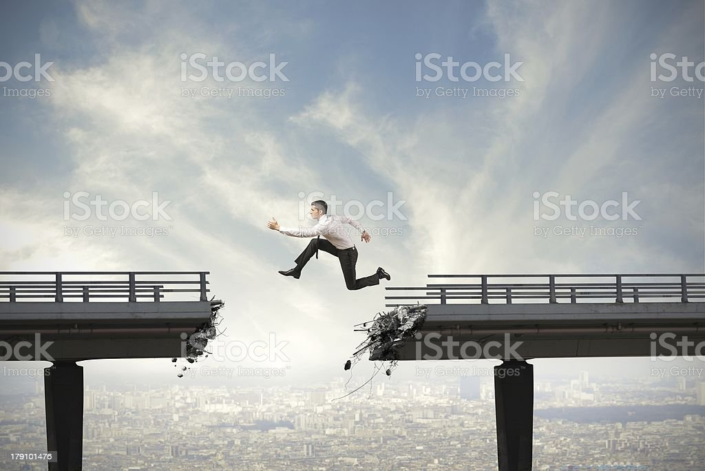 Overcome the difficulties stock photo