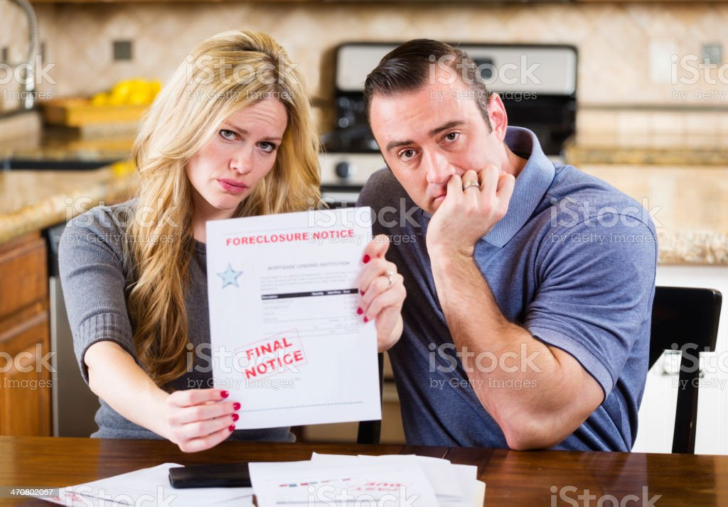 Overcome with Debt royalty-free stock photo