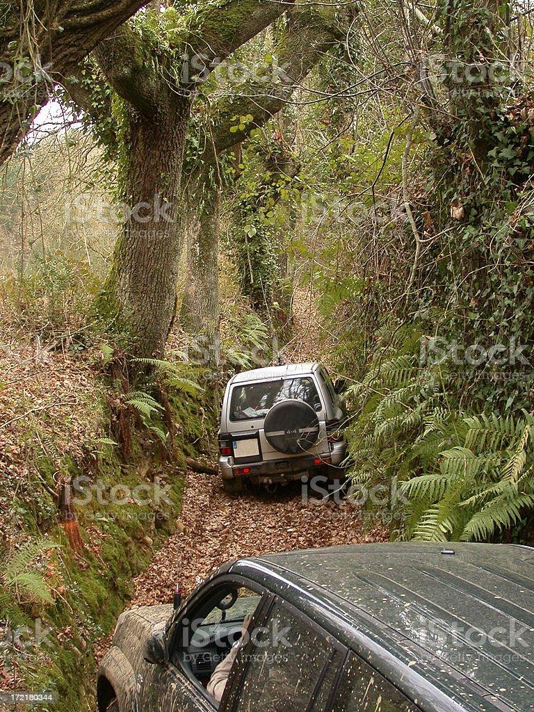 Overcoming 4x4 route - Superación Ruta Todo Terreno stock photo