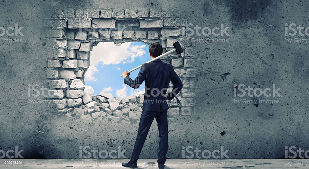 Overcoming challenges stock photo