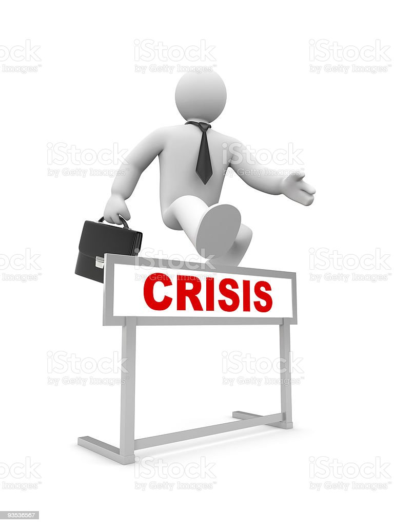 Overcoming the crisis royalty-free stock photo