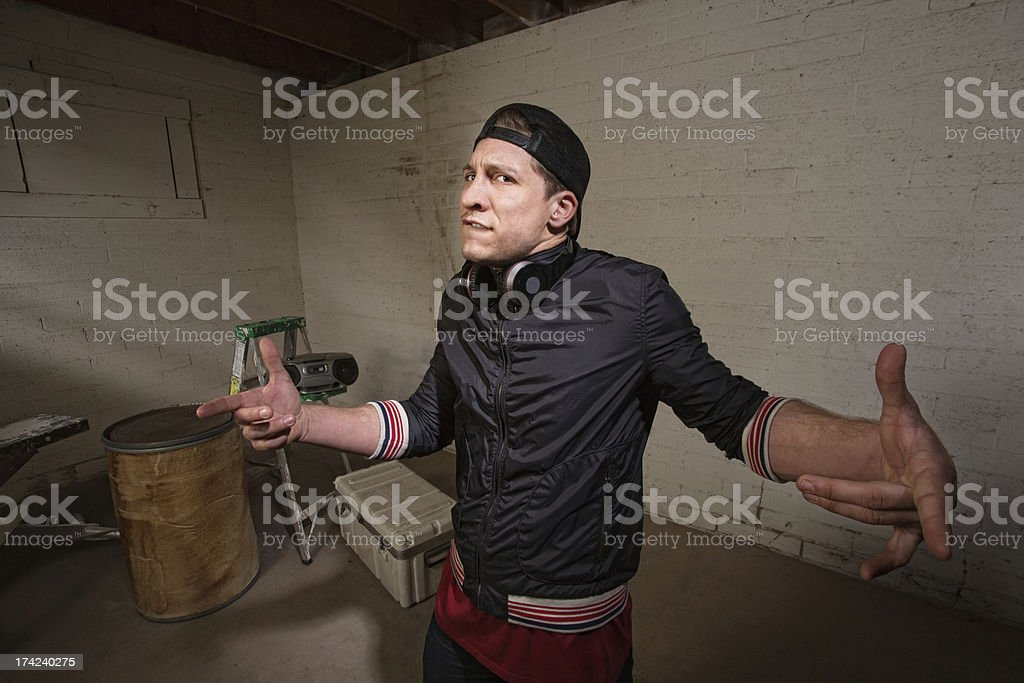 Overconfident Tough Guy royalty-free stock photo