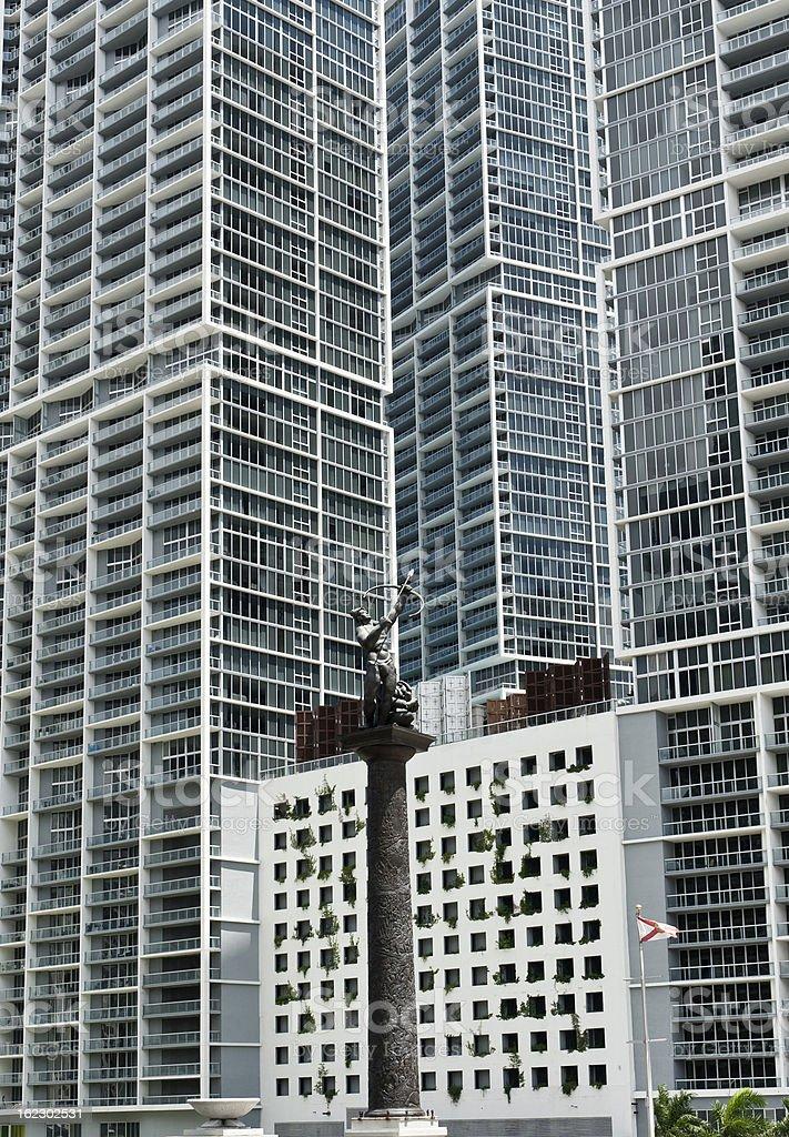 Over-construction in Miami stock photo