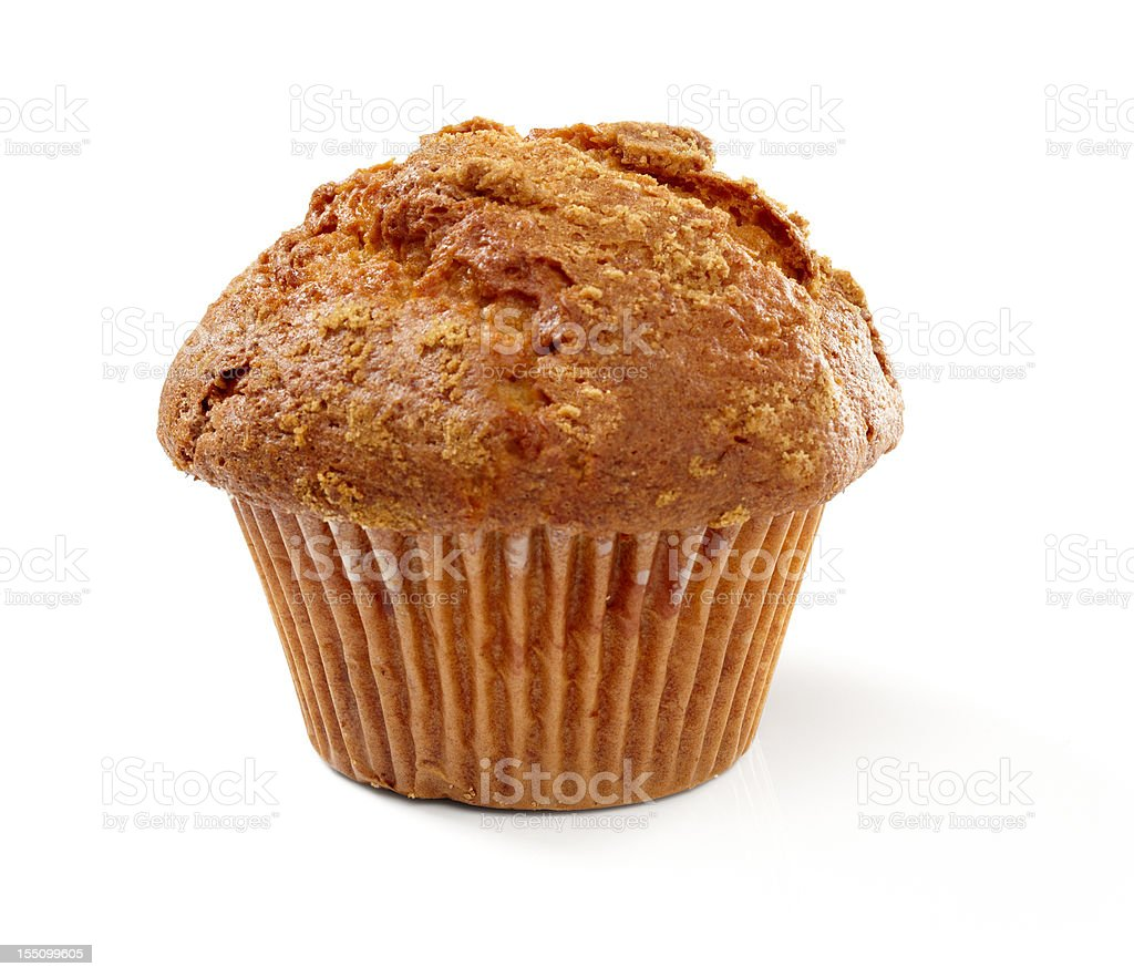 Overcooked cinnamon and sugar muffin royalty-free stock photo