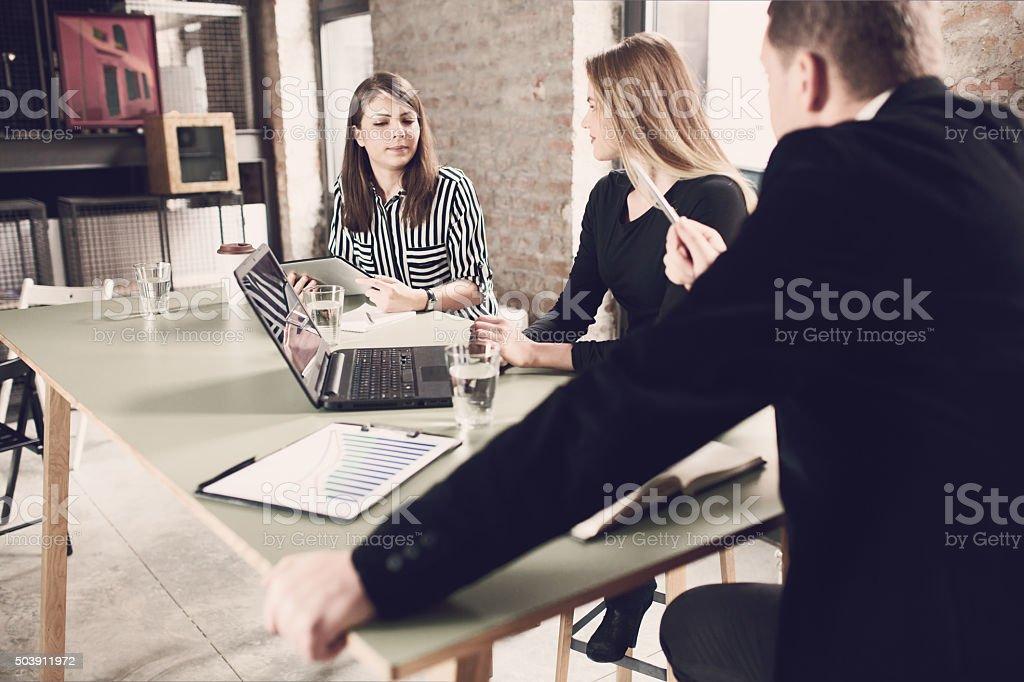 Overdemanding Boss stock photo