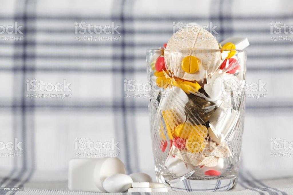 Overdose of medicines stock photo