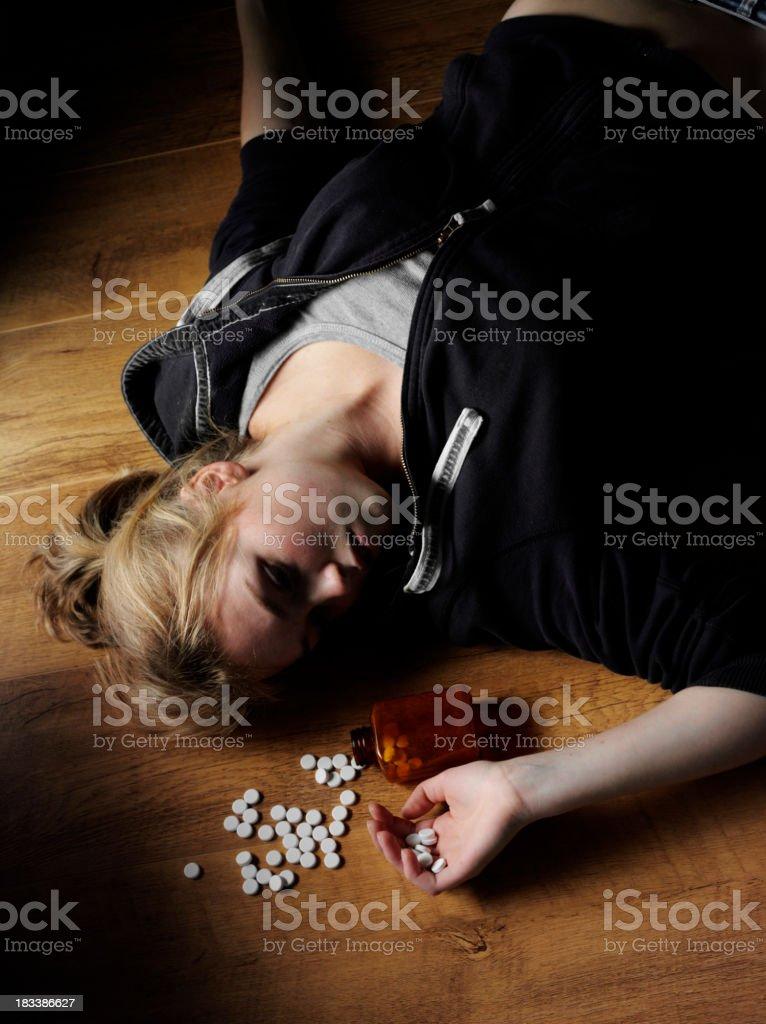 Overdose of pills stock photo