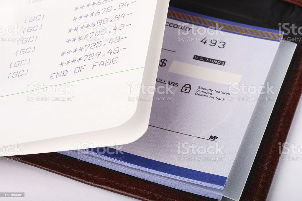 Overdrawn Bank Account stock photo