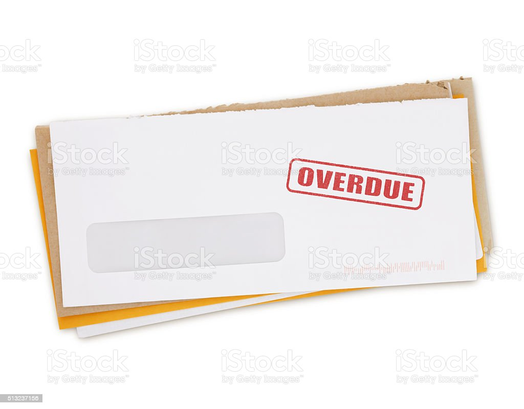 Overdue Bills (with path) stock photo