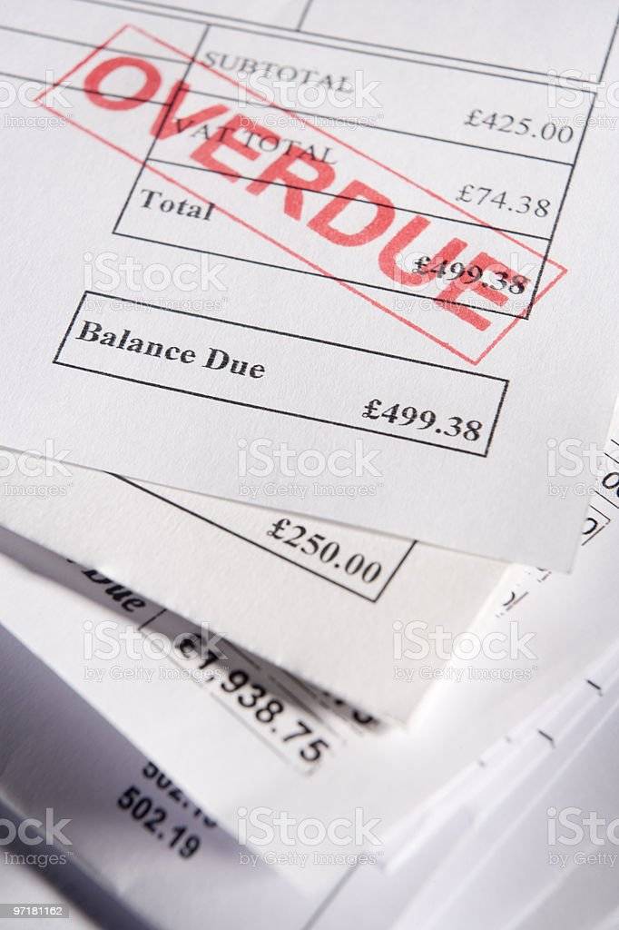 Overdue Bills stock photo