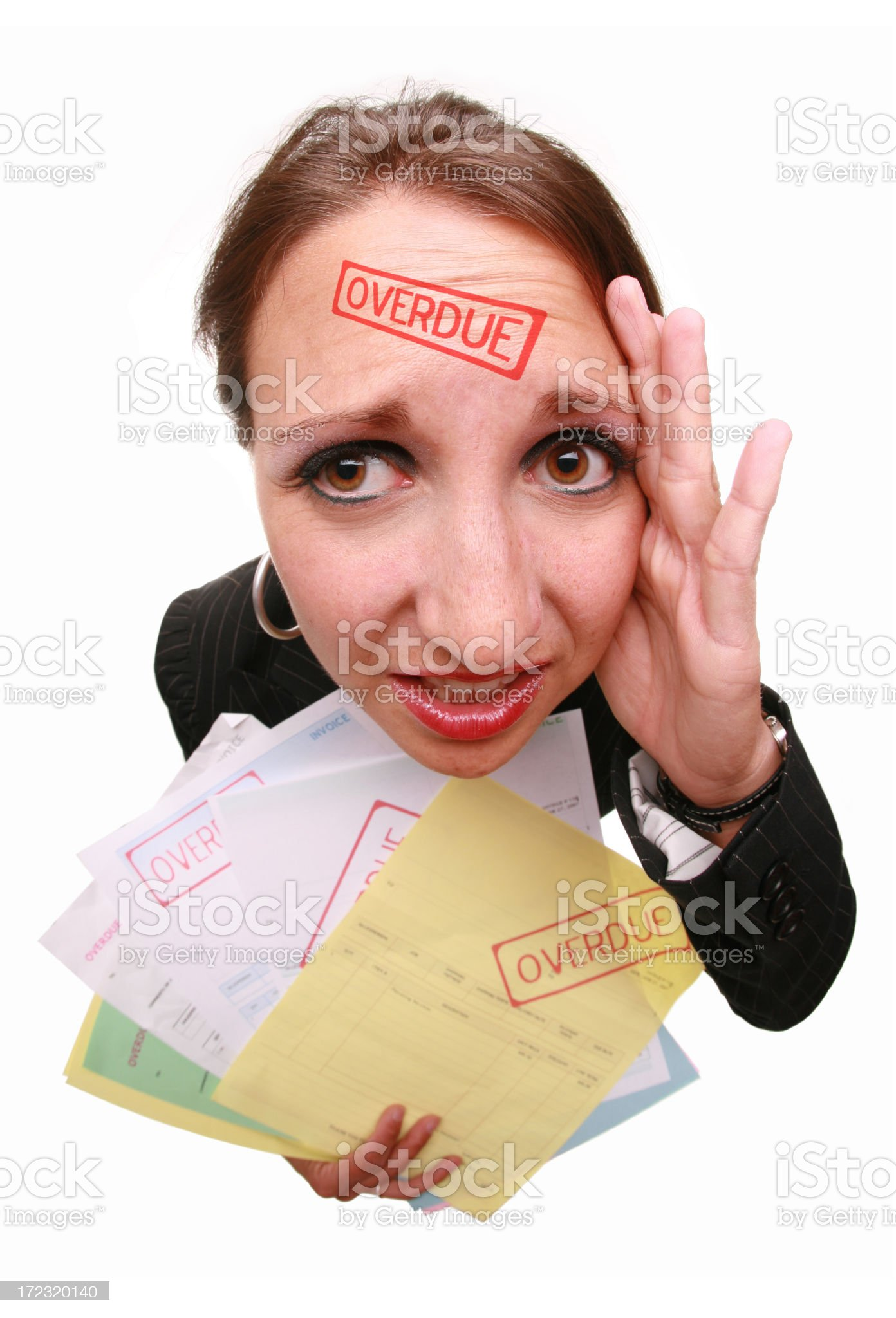 Overdue Invoices royalty-free stock photo