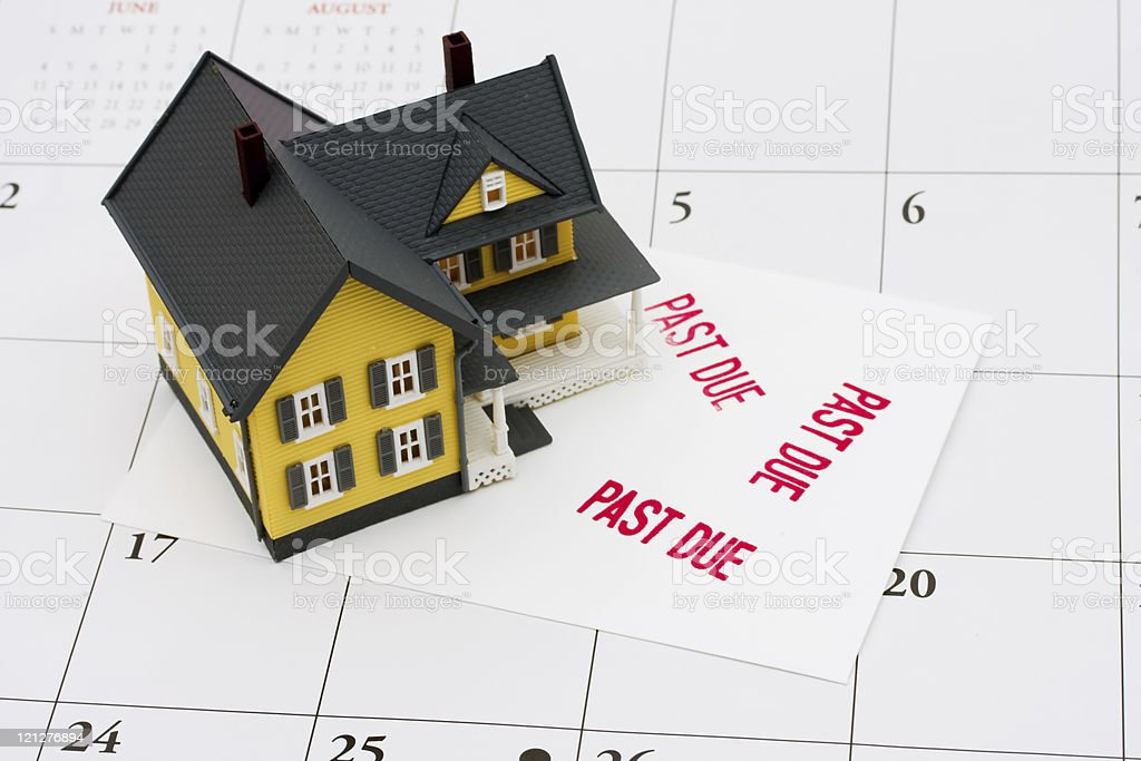 Overdue Mortgage stock photo