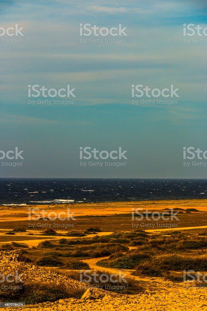 Overexposed Rocky Beach stock photo