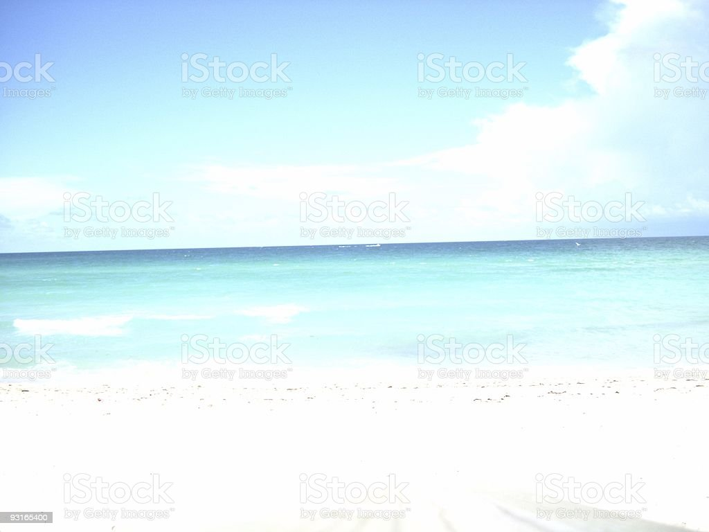 Overexposure at the beach royalty-free stock photo