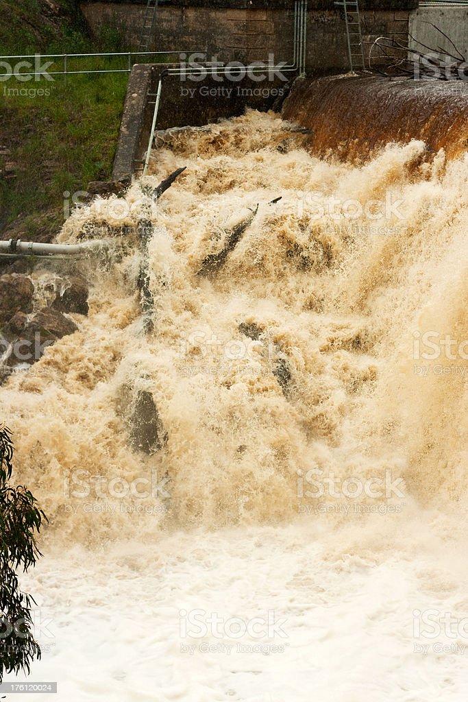 Overflowing Dam stock photo