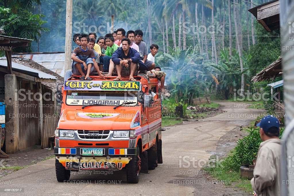 Overflowing Jeepney stock photo