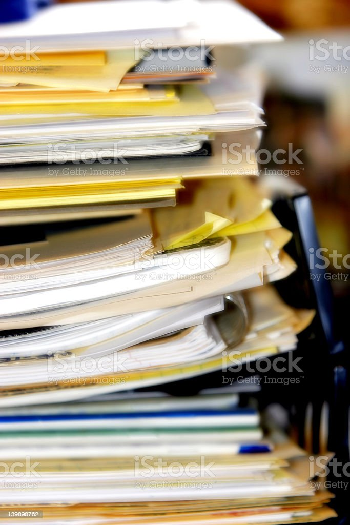 Overflowing & Overloaded Inbox #2 (soft focus) royalty-free stock photo