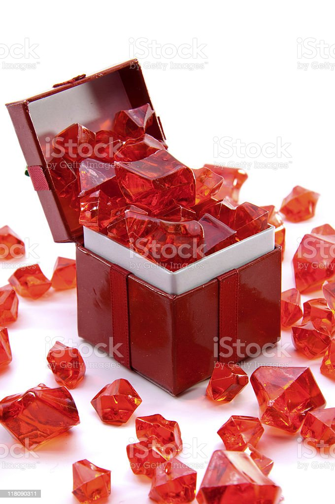 Overflowing Present royalty-free stock photo