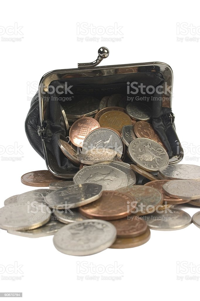 Overflowing Purse royalty-free stock photo
