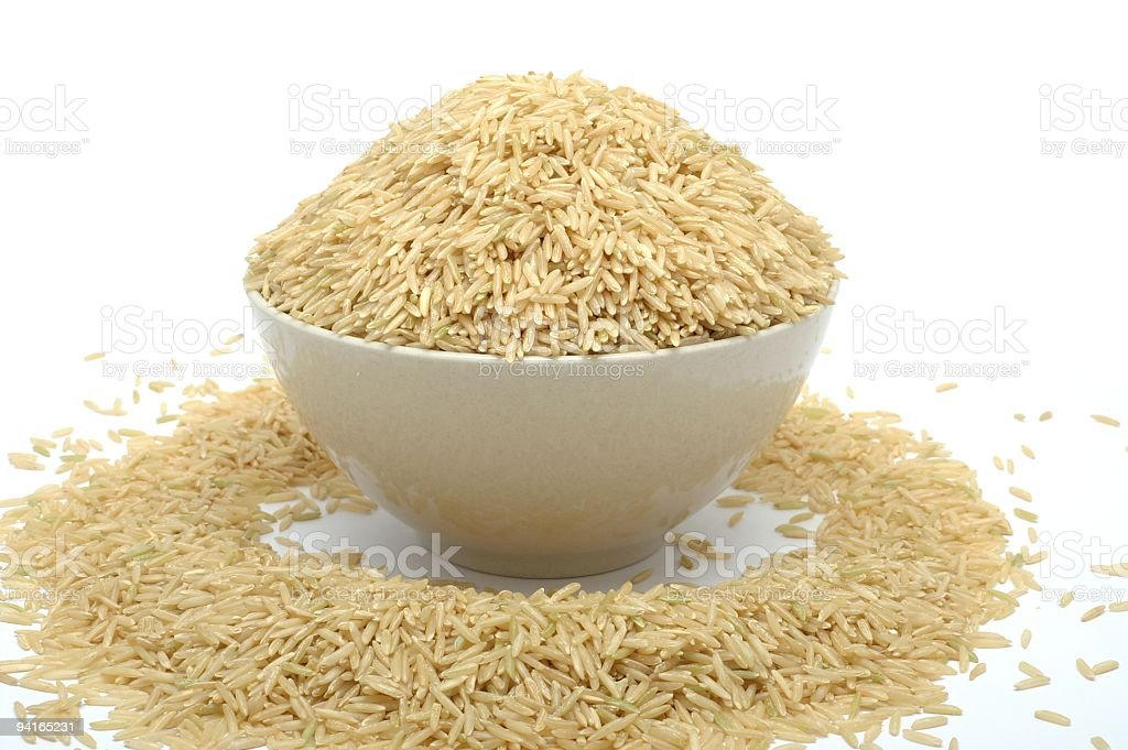 Overflowing Rice Bowl royalty-free stock photo