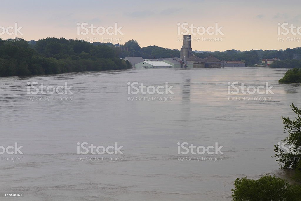 Overflowing river royalty-free stock photo