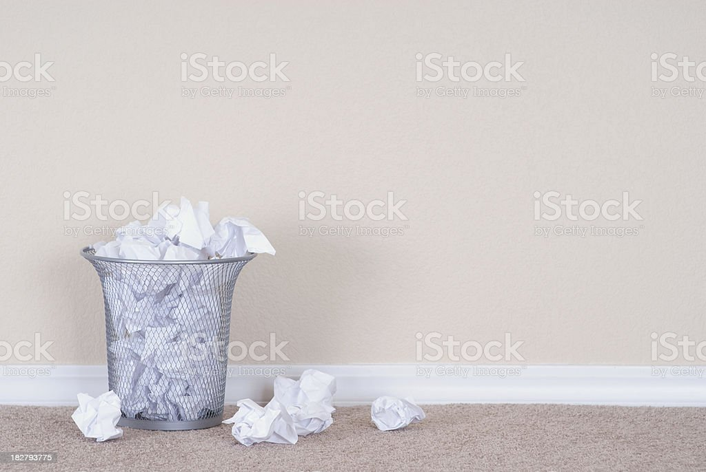 Overflowing Trash Can royalty-free stock photo