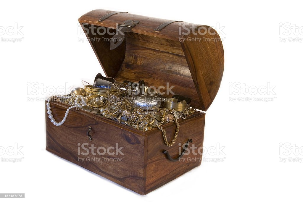Overflowing Treasure Chest 2 stock photo