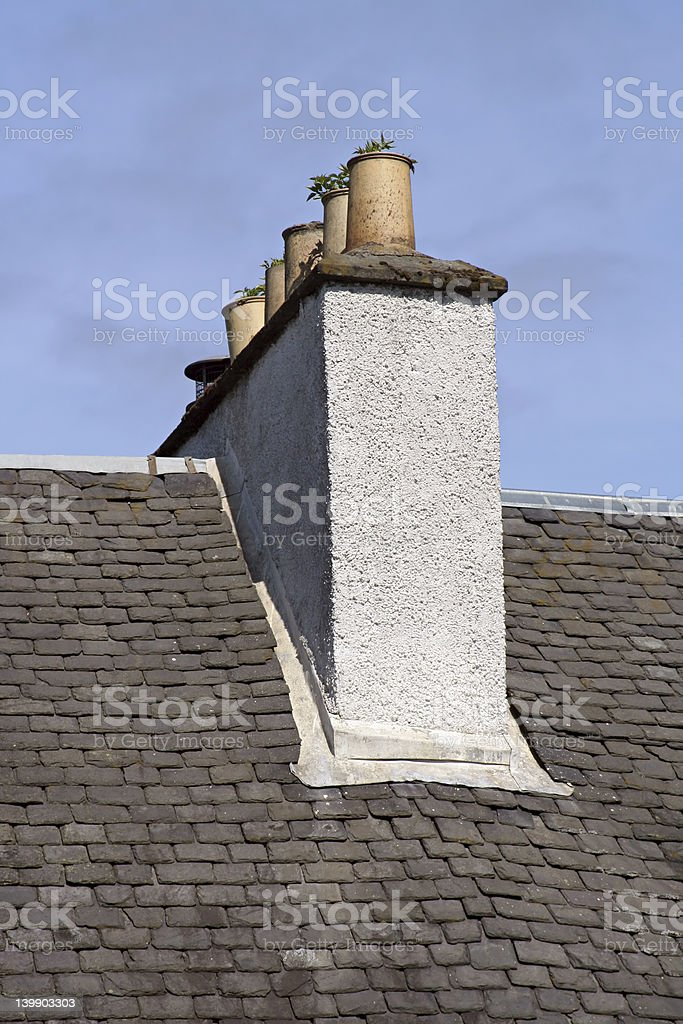 Overgrown Chimney stock photo