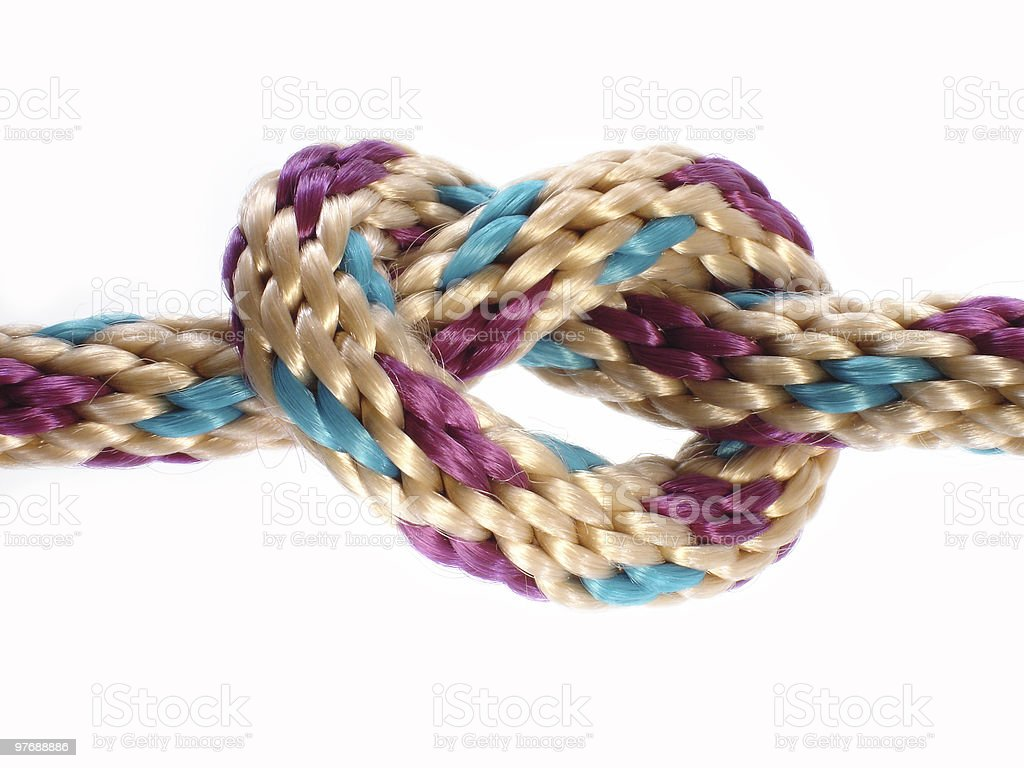 Overhand Knot stock photo
