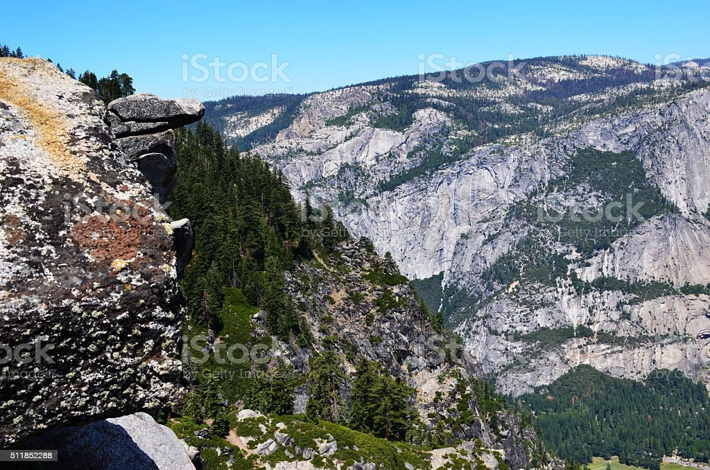 Overhang Rock, Yosemite National Park stock photo