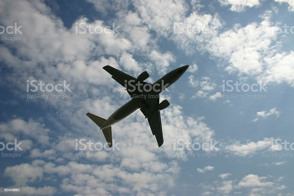 Overhead airplane royalty-free stock photo