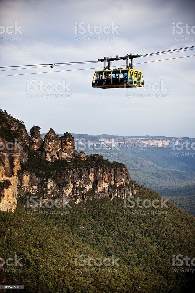 overhead cable car royalty-free stock photo