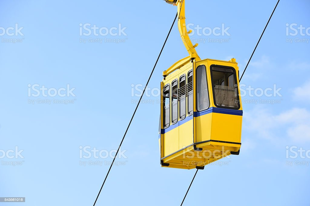 Overhead Cable Car stock photo