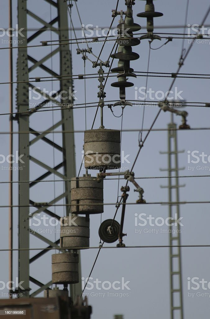 overhead contact line royalty-free stock photo
