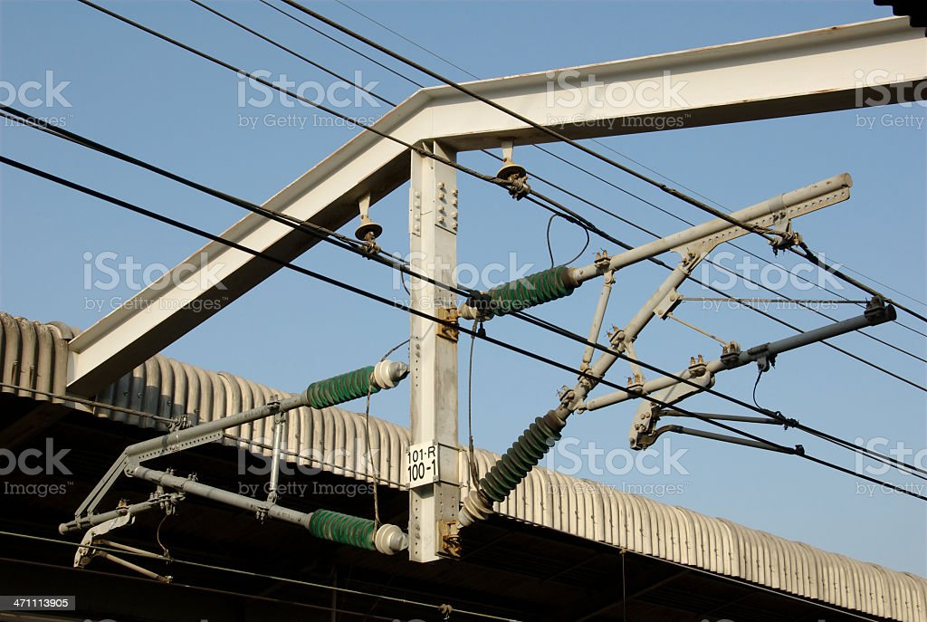 Overhead Contact Lines (Japan) stock photo