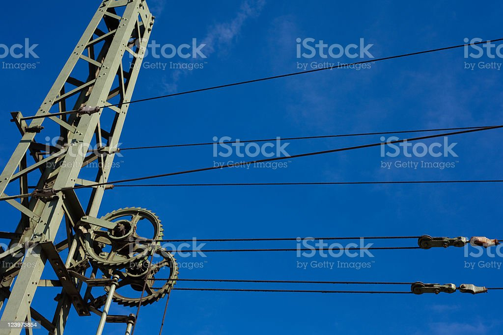 Overhead contact wiring royalty-free stock photo