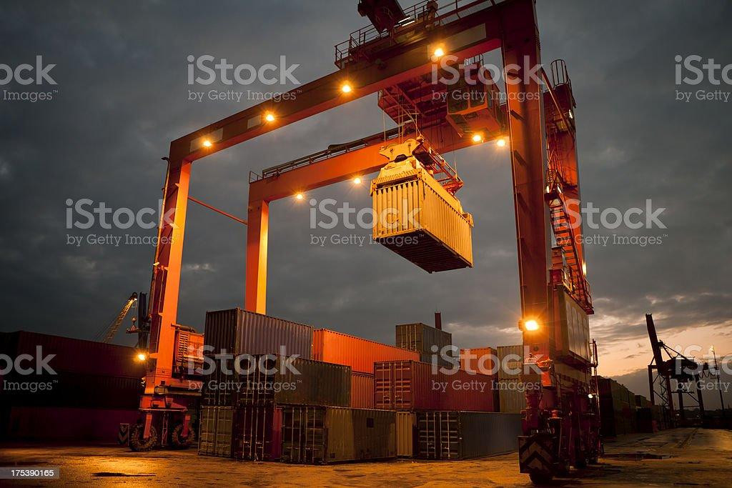 overhead crane stock photo