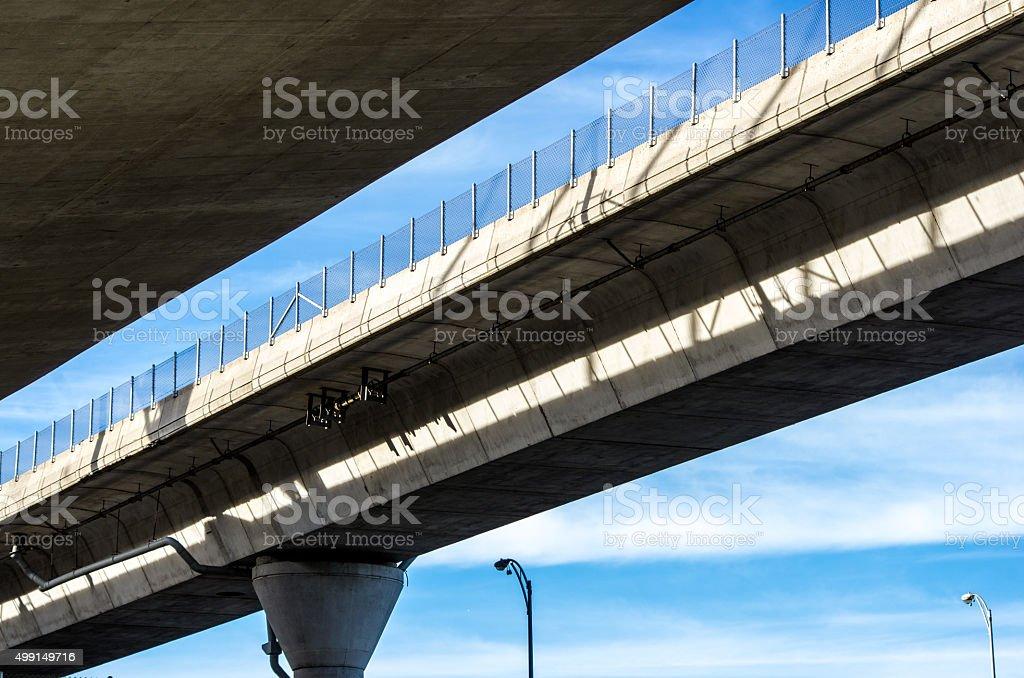 Overhead freeway ramp stock photo