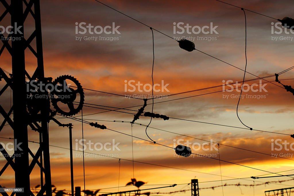 Oberleitung stock photo